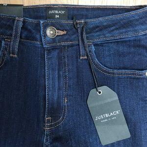 Just Black Crop Fringe Skinny Jeans